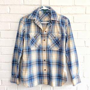 Lauren Jeans Company plaid cotton buttondown